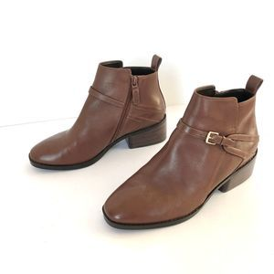 Cole Haan Etta Leather Bootie II Brown Leather